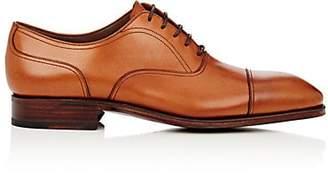 BEIGE Carmina Shoemaker Men's Leather Cap-Toe Balmorals - Beige, Tan