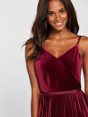 8589ce907622 Ted Baker Khim Velvet Pleated Midi Dress - Oxblood