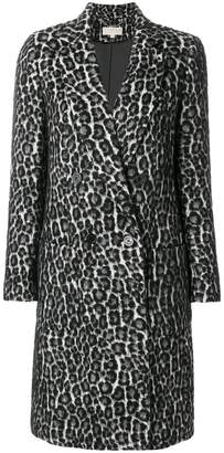 MICHAEL Michael Kors leopard jacquard coat