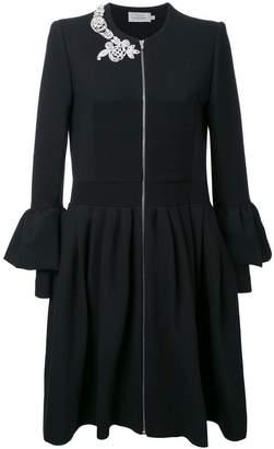 Preen by Thornton Bregazzi embellished ruffled shirt dress