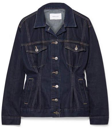 The Corset Trucker Denim Jacket - Dark denim