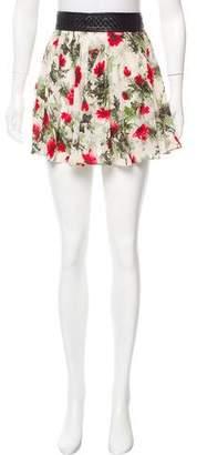 Elizabeth and James Silk Floral Print Skirt