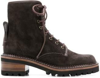 See by Chloe chunky heel boots