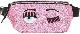 Chiara Ferragni Glittered Belt Bag W/ Embroidery