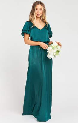 Show Me Your Mumu Michelle Maxi Dress ~ Dark Emerald Sheen