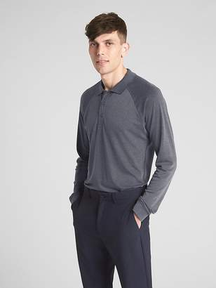 Gap GapFit Breathe Long Sleeve Pique Polo Shirt