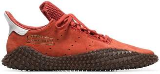 adidas orange Kamanda 01 suede low-top sneakers