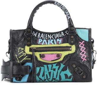 Balenciaga Classic City Graffiti Small leather tote
