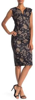 ECI Sleeveless Bonded Scuba Dress