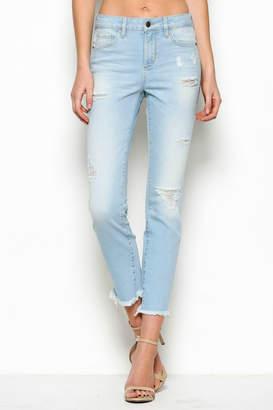 Hidden Jeans Taylor High Rise Zipper Detail Jean