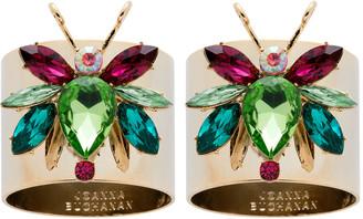 Joanna Buchanan Rainbow Bug Peridot Napkin Rings - Set of 2