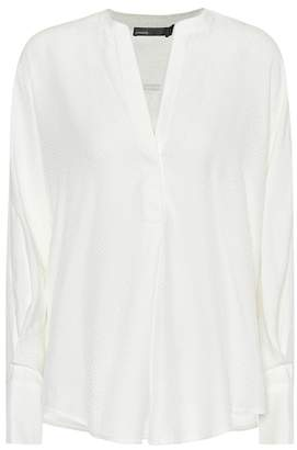 5274f881c572a White Silk Blouse - ShopStyle