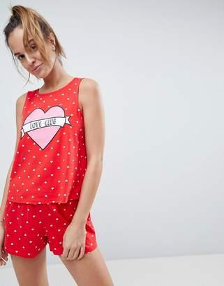 Asos Love Club Tank & Short Pajama Set