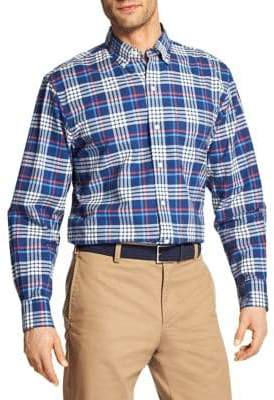 Izod Plaid Oxford Button-Down Shirt