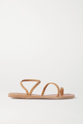 Ancient Greek Sandals - Eleftheria Braided Leather Sandals - Neutral $250 thestylecure.com