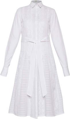 Rahul Mishra Daraj Button Front Cotton Shirt Dress