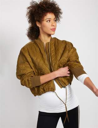 A Pea in the Pod Jack by BB Dakota Quilted Puffer Crop Maternity Jacket