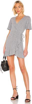 Monrow Mini Ruffle Wrap Dress