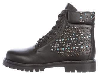Valentino 2016 Rolling Rockstud Combat Boots w/ Tags