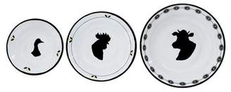 Creative Co-op Round Enamel Bowl - Set of 3