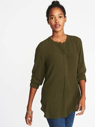 Old Navy Button-Front Popover Tunic Shirt for Women