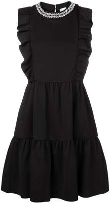 RED Valentino sleeveless ruffled dress