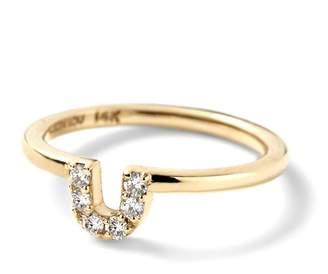 Alison Lou Pave Diamond U Ring