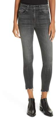Rag & Bone JEAN High Waist Raw Hem Crop Skinny Jeans