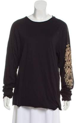 Chrome Hearts Long Sleeve Scoop Neck Top