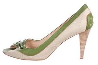 Tod's Leather Mid-Heel Pumps
