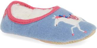 Joules Felt Slipper with Faux Fur Lining