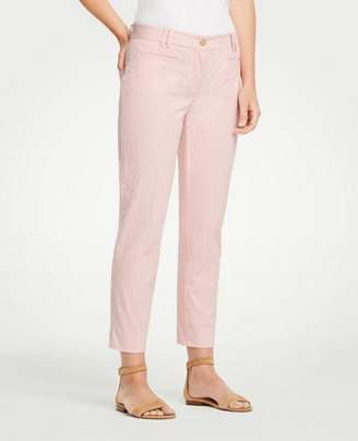 Ann Taylor The Crop Pant In Seersucker - Curvy Fit