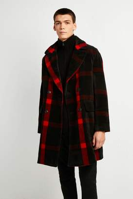 French Connenction Oversized Check Coat