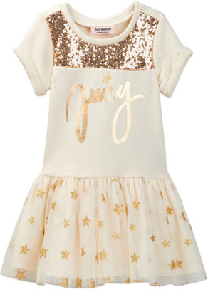Juicy Couture Star Sweatshirt Dress (Toddler Girls) $60 thestylecure.com
