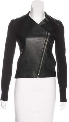 Helmut Lang Leather Zip-Up Jacket