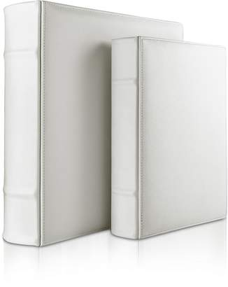 Pineider City Chic - White Grained Calf Leather Photo Album