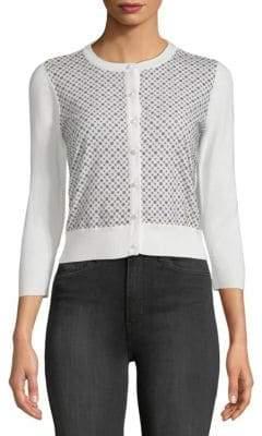 Long-Sleeve Lace Cardigan