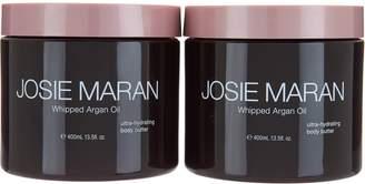 Josie Maran Deluxe Argan Whipped Body Butter Duo, 13.5 oz.