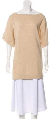 Tory Burch Cashmere Short Sleeve Knit Sweater