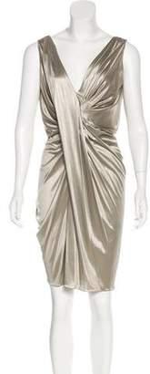 Christian Dior Sleeveless Draped Dress