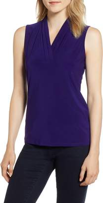 Anne Klein Triple Pleat Sleeveless Top