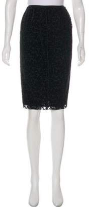 Nina Ricci Textured Knee-Length Skirt Black Textured Knee-Length Skirt
