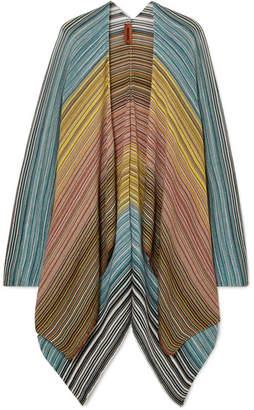 Missoni Metallic Crochet-knit Wrap - Blue