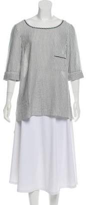 Elizabeth and James Striped High-Low Top w/ Tags
