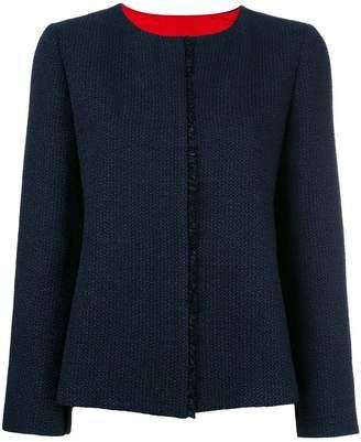 Armani Collezioni contrast inside seam blazer