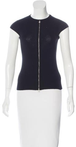 Chanel Cashmere Zip-Up Top
