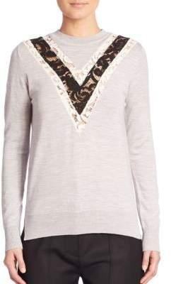 ADAM by Adam Lippes Wool Lace Sweater