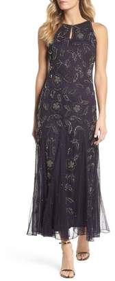 Pisarro Nights Beaded Godet Gown