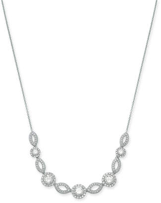 """Rosegold Danori Silver-Tone Crystal & Pave Collar Necklace, 16"""" + 2"""" extender (Also Available in Rose-Gold Tone)"""