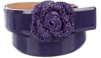 Valentino Patent Leather Waist Belt